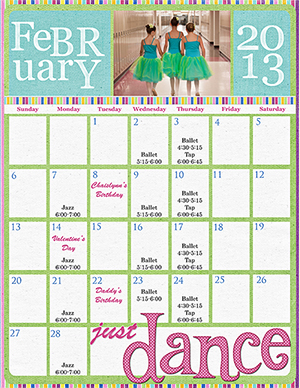 Digital Scrapbook Calendar by Becca Hauck using products availabe at Scrap Girls