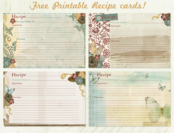 Free Printable Recipe Cards Perfect For Thanksgiving