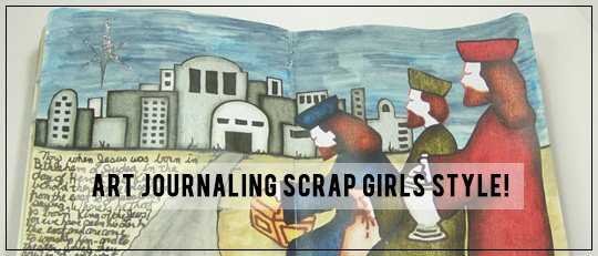 Art Journaling Scrap Girls Style
