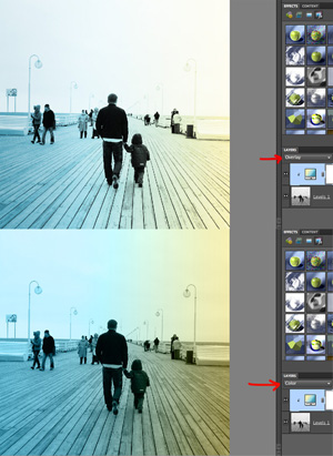 Examples of a photo colored with a gradient overlay