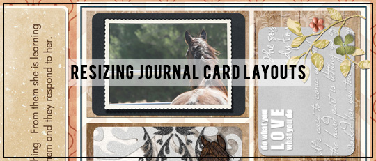 Resizing Journaling Cards