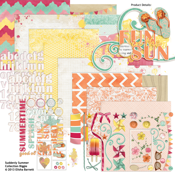Suddenly Summer Digital Scrapbooking Kit