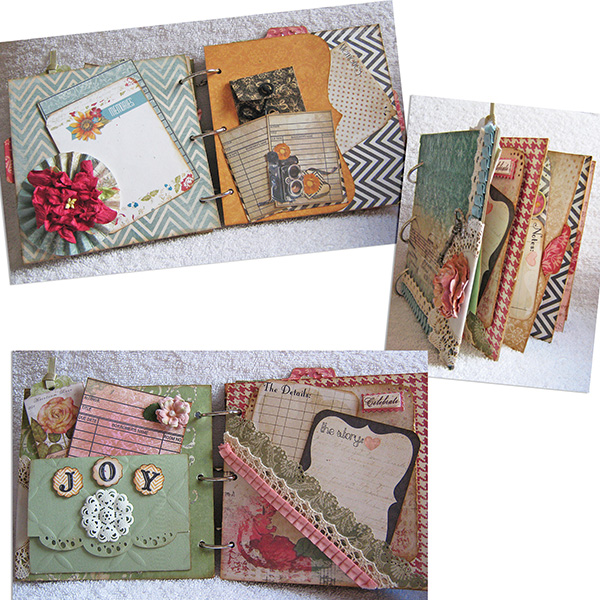 Mini Craft Albums sampels
