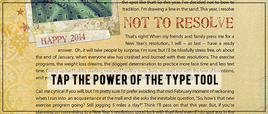 Tap the Power of the Type Tool