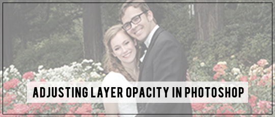 Adjusting Layer Opacity in Photoshop