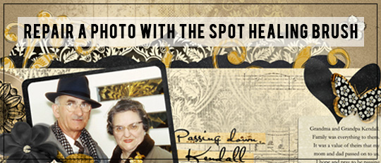 Repair a Photo with the Spot Healing Brush