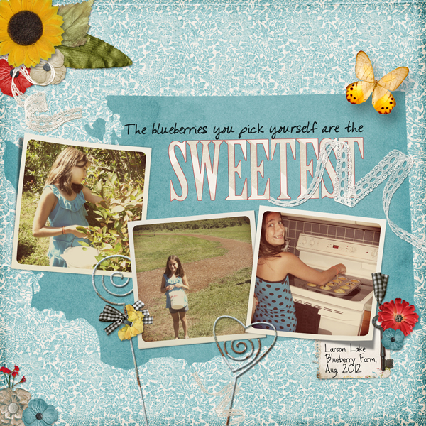 Digital Scrapbooking Layout using Custom Shapes