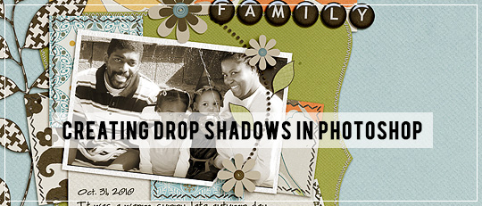 Drop Shadows in Photoshop - tutorial intro banner