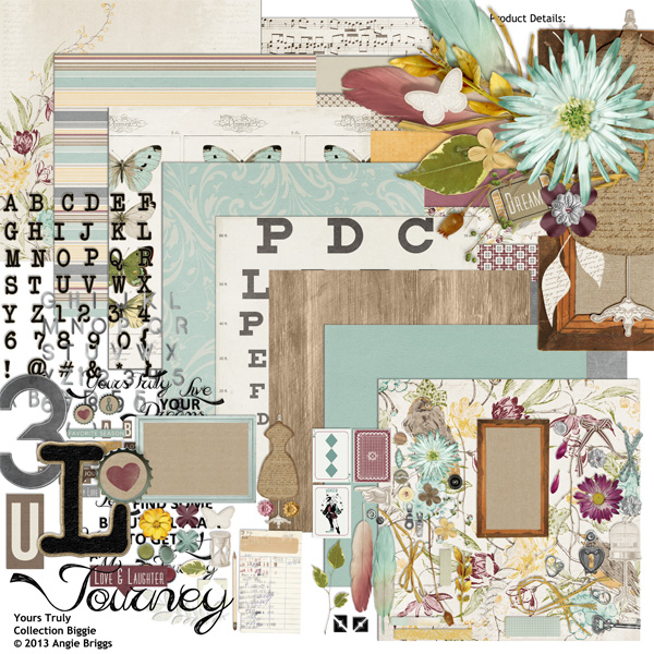 Yours Truly digital scrapbooking kit