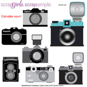 ScrapSimple Embellishments Camera Time