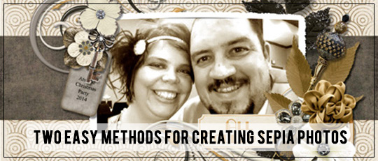 Two methods for creating sepia photos