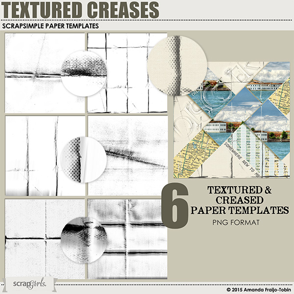 ScrapSimple Paper Templates: Textured Creases