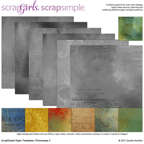 ScrapSimple Paper Templates: Picturesque 2