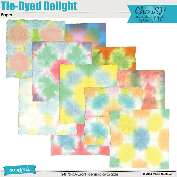 Tie Dyed Delight Paper
