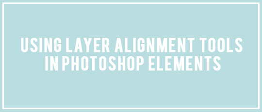 Layer Alignment Tools in Photoshop Elements