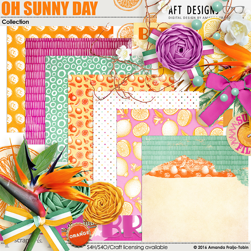 Oh Sunny Day digital scrapbooking kit