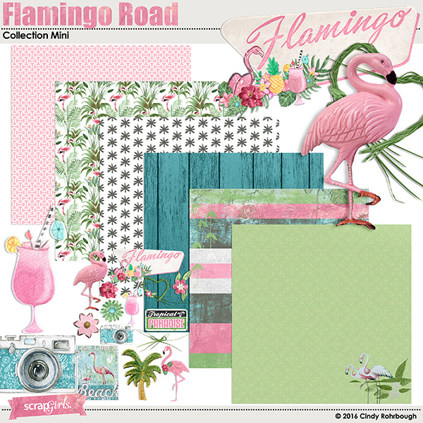 Flamingo Road digital scrapbooking kit