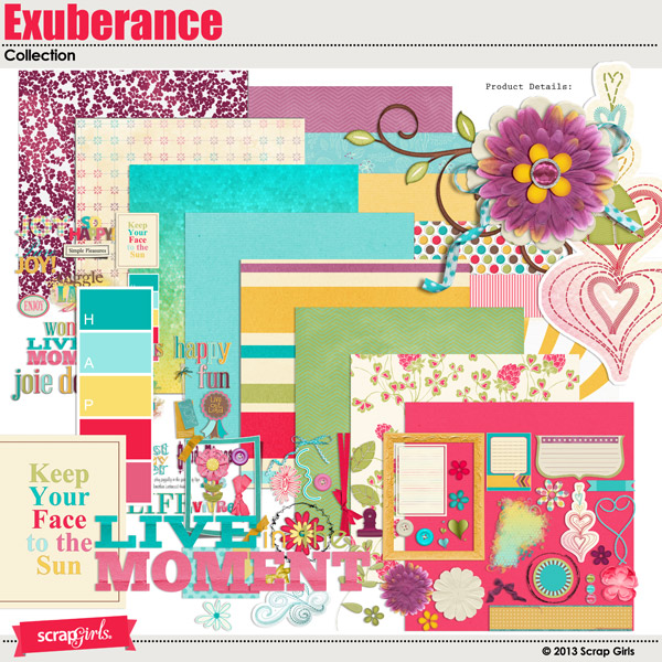 Exuberance Free Digital Scrapbooking Kit