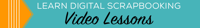 learn digital scrapbooking video classes banner