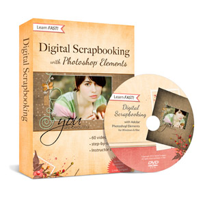 Digital scrapbooking with Photoshop Elements video class