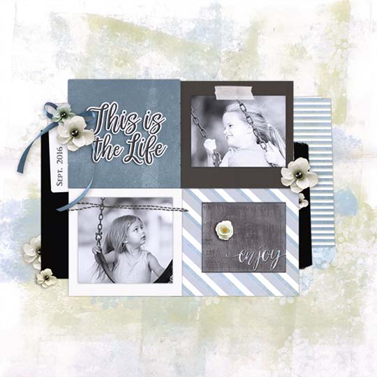 Digital Scrapbooking Page featuring Scrap Girls Club Farmhouse
