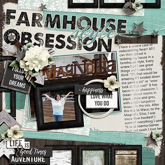 Sample Layout using Farmhouse Club