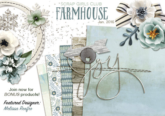 Scrap Girls Club - Farmhouse Intro Banner