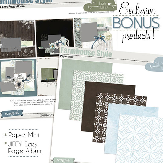 Scrap Girls Club - Farmhouse Bonus Products