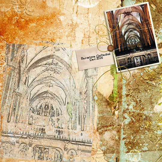 Digital scrapbooking layout using Capturing Memories Club