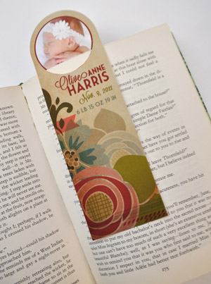 How to Make a Birth Announcement Bookmark