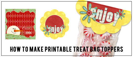 How to make a printable treat bag topper