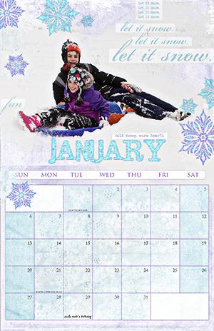 Digital Scrapbook Calendar by Becca Hauck