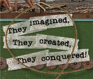 Word art that tells the story of the scrapbooking layout