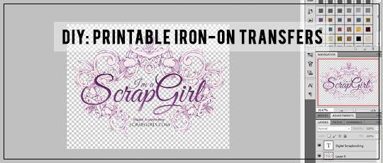 DIY: Printable Iron-on Transfers