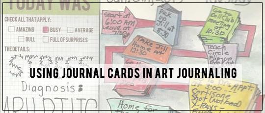 Using Journaling Cards in Art Journaling