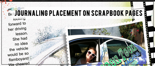 Journaling Placement on Scrapbook Pages