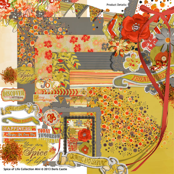 Spice of Life digital scrapbooking Kit