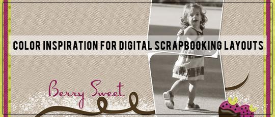 Color Inspiration for Digital Scrapbooking