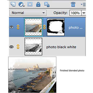 A screenshot in Photoshop showing blending the background.