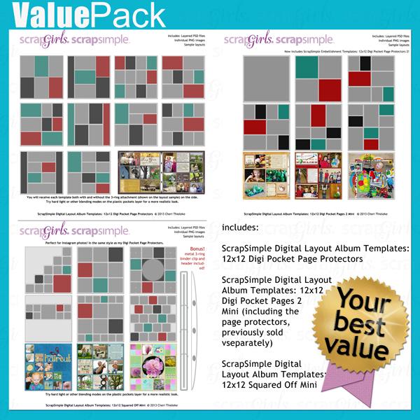 Value Pack: Digital Pocket Page Protectors