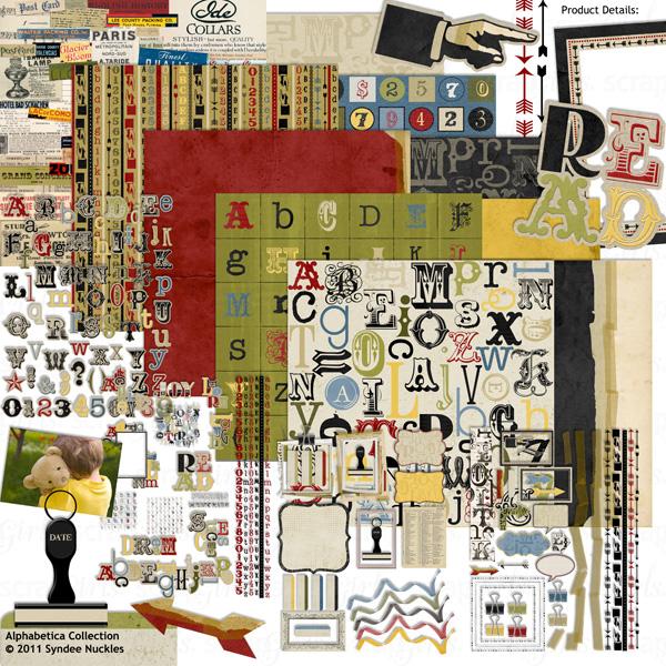 Alphabetica Digital Scrapbooking Kit