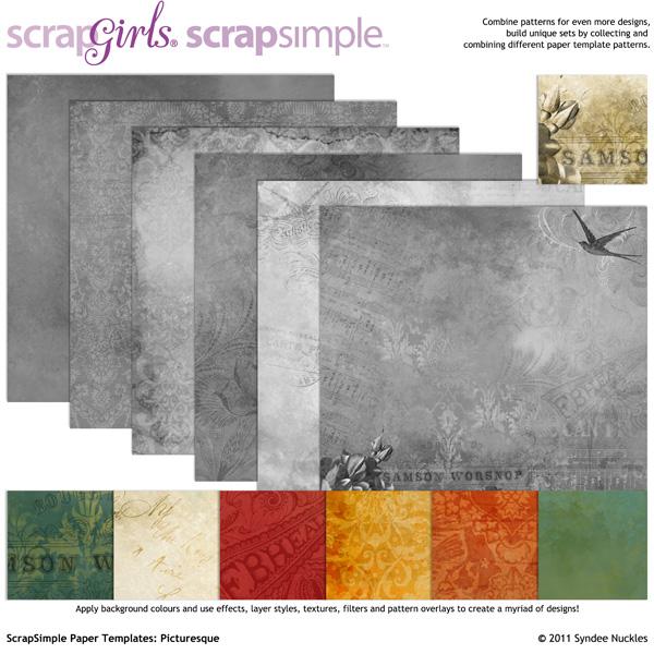 ScrapSimple Paper Template Picturesque