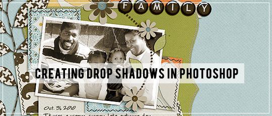 Drop Shadows in Photoshop - tutorial intro banner