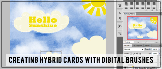 Hybrid Cards with Digital Graphics