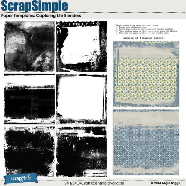 ScrapSimple Paper Templates: Capturing Life Blender Masks