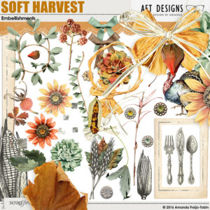 Soft Harvest Embellishments