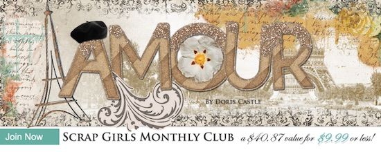 Scrap Girls Club Amour
