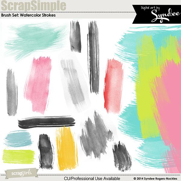 Brush Set: Watercolor Strokes Biggie