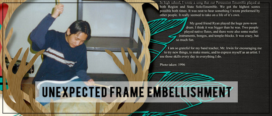 Unexpected Frame Embellishments