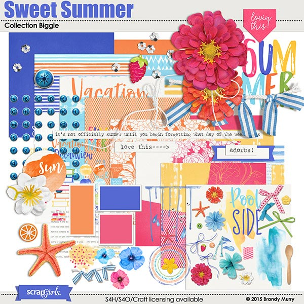Sweet Summer Digital Scrapbooking kit